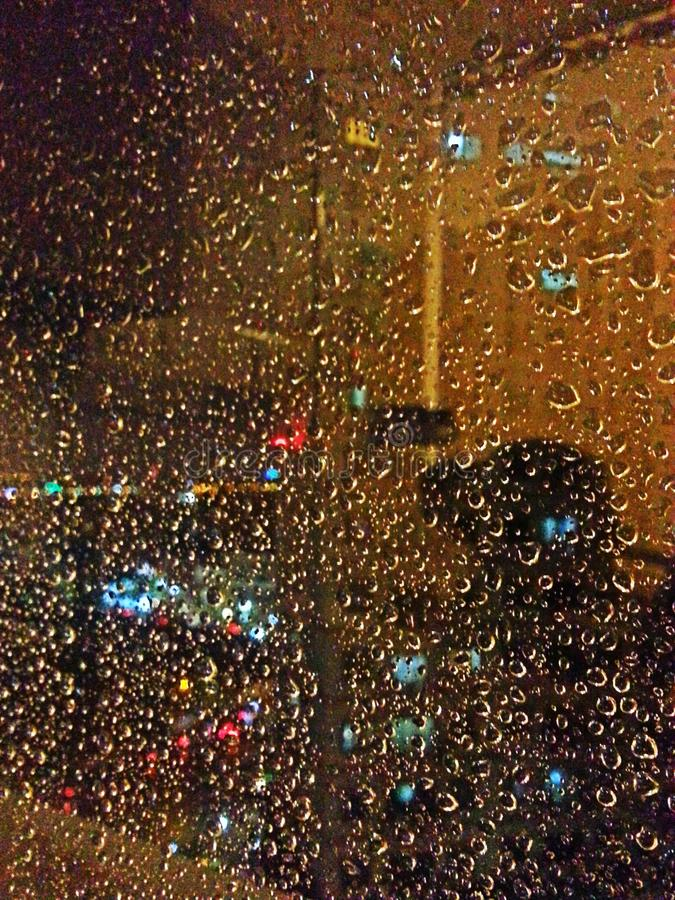 Noite da janela fotografia de stock