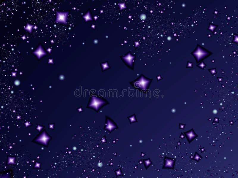 Noite da luz das estrelas ilustração royalty free