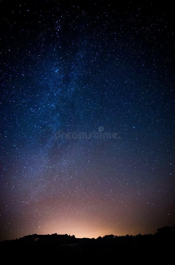 Noite da montanha fotografia de stock royalty free