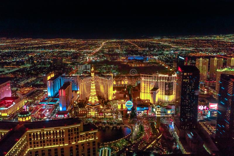 Noite da tira de Las Vegas foto de stock