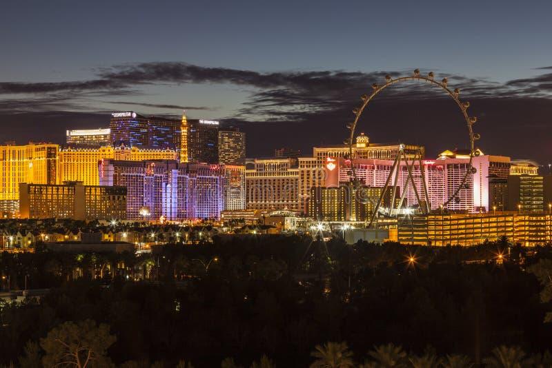 Noite da tira de Las Vegas imagem de stock royalty free