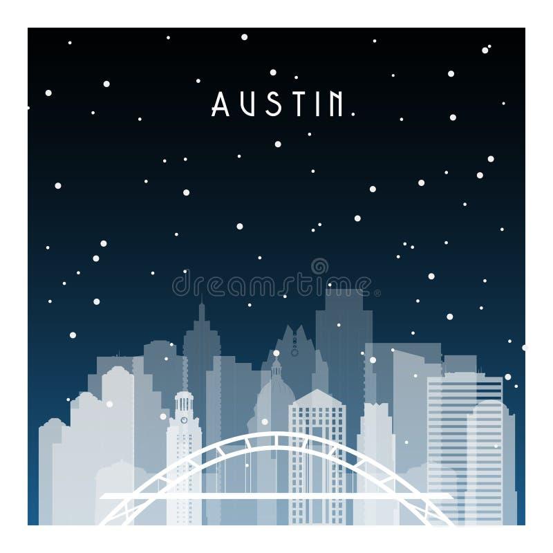 Noite de Austin em Zurique ilustração do vetor