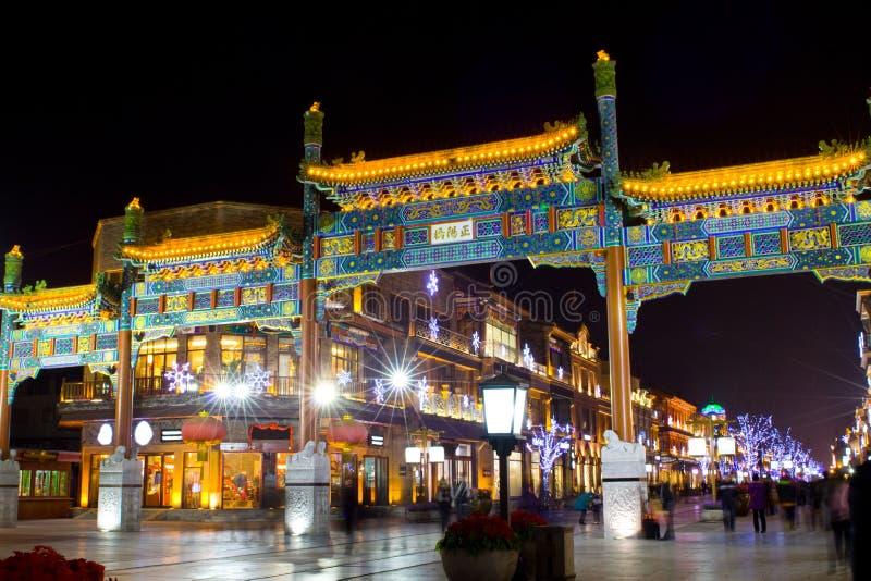Noite de Beijing foto de stock