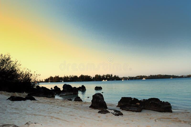 Noite de Bermuda fotografia de stock