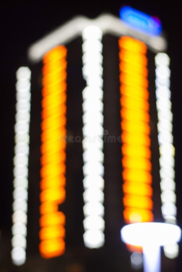 Noite de Bokeh imagens de stock