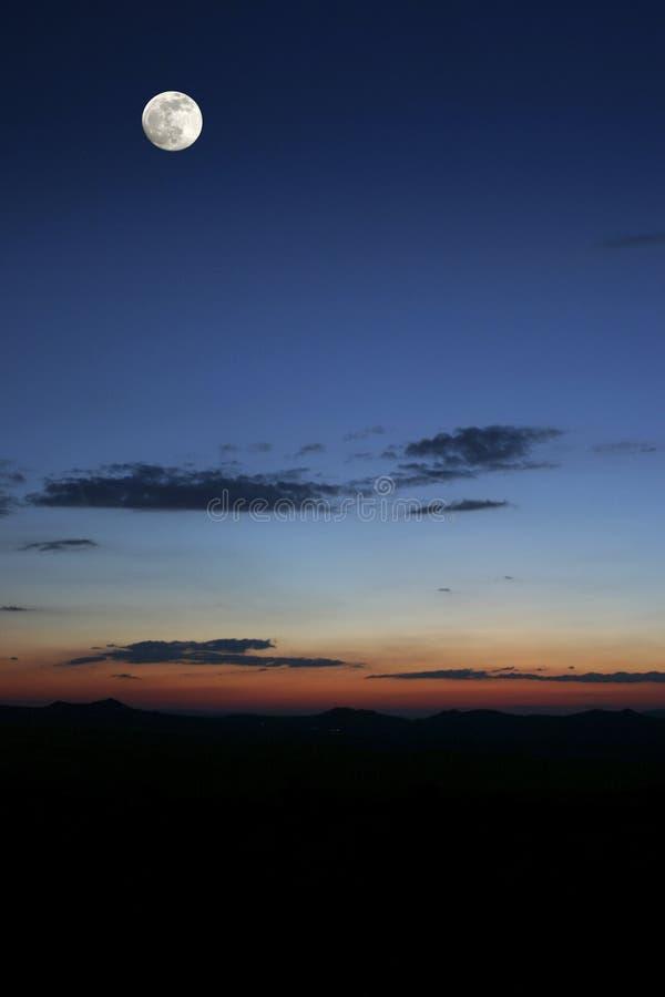 Noite de Cappadoccia foto de stock