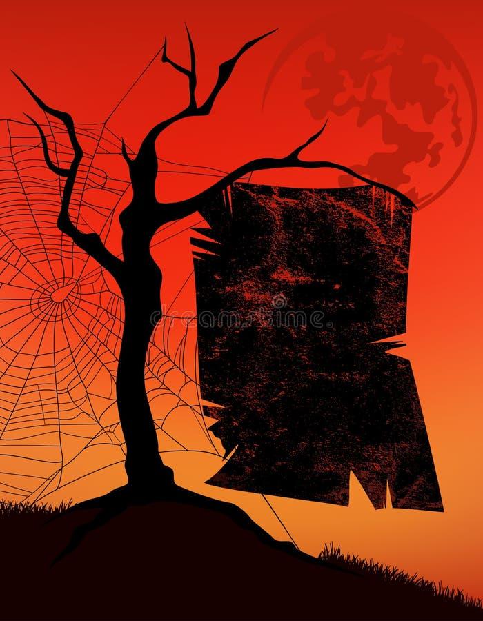 Noite de Dia das Bruxas ilustração do vetor