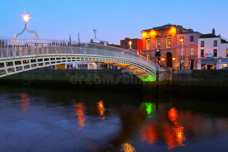 Noite de Dublin imagens de stock royalty free