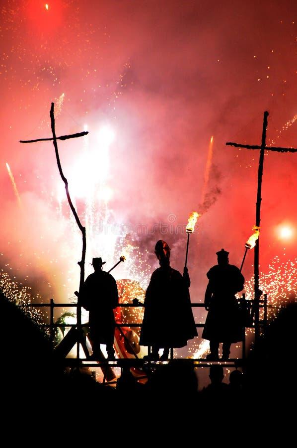 Noite de Fawkes do indivíduo fotos de stock royalty free
