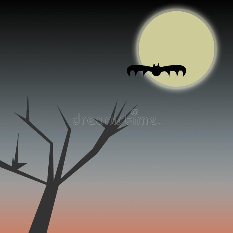 Noite de Halloween ilustração stock