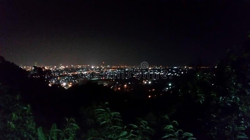 Noite de Hatyai foto de stock