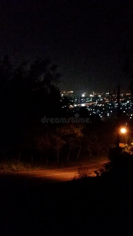 Noite de Hatyai foto de stock royalty free
