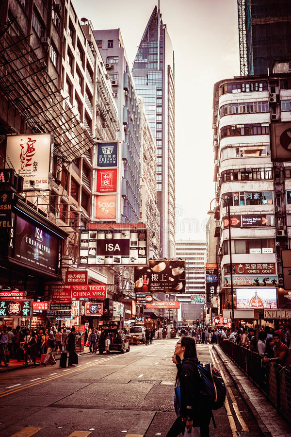 Noite de Hong Kong imagens de stock royalty free