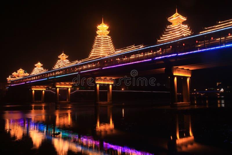 Noite de Huang Zhou Feng Yuqiao (ponte da vento-chuva) imagem de stock