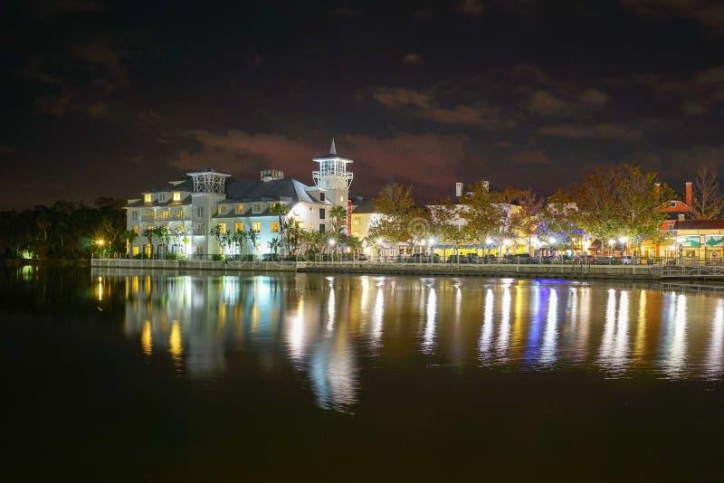Noite de Kissimmee foto de stock royalty free