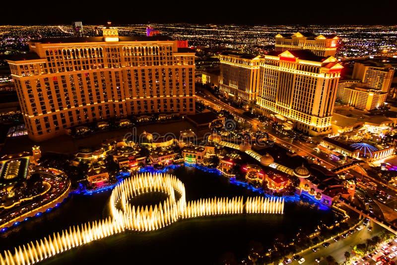 Noite de Las Vegas fotos de stock royalty free