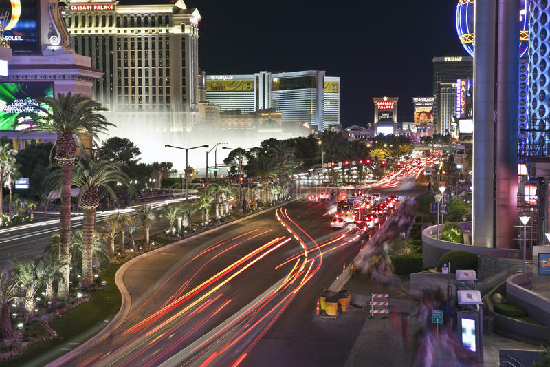 Noite de Las Vegas Blvd foto de stock