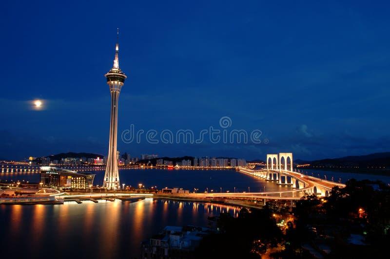 Noite de Macau fotografia de stock