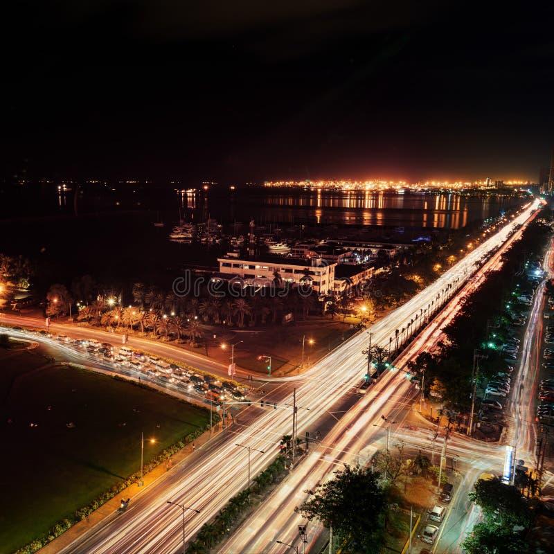 Noite de Manila fotos de stock royalty free