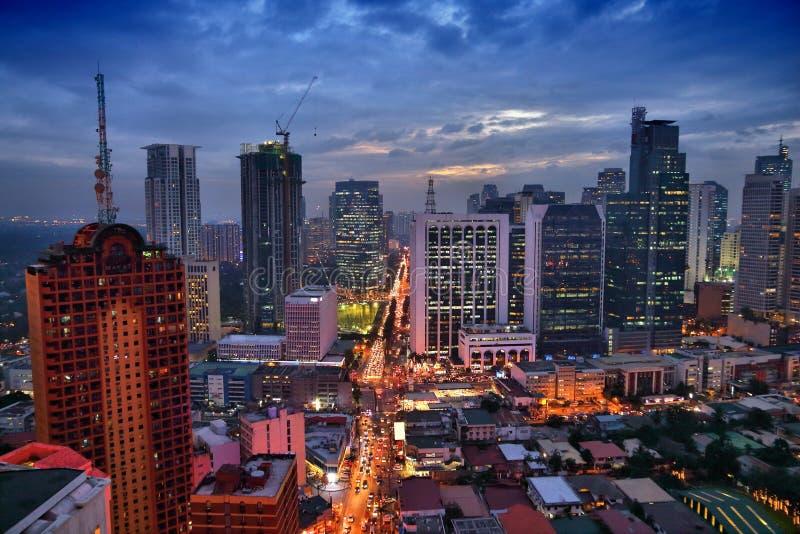 Noite de Manila imagem de stock