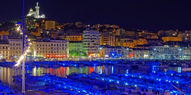 Noite de Marselha fotos de stock