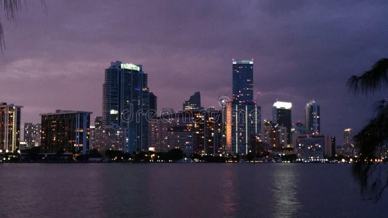 Noite de Miami imagem de stock royalty free