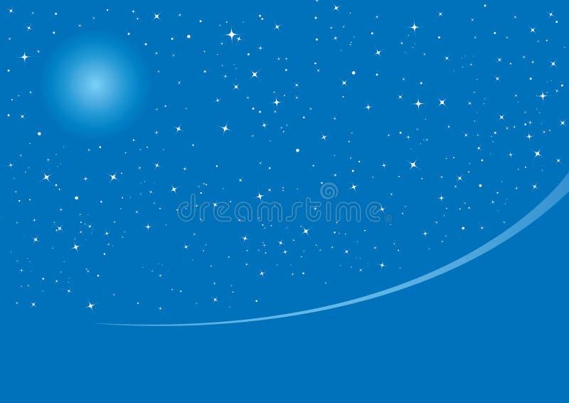 Noite de Natal azul ilustração stock