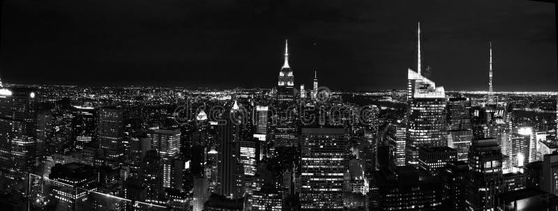 Noite de New York fotos de stock royalty free