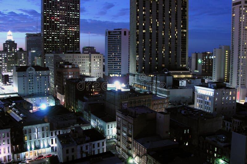 Noite de Nova Orleães fotos de stock royalty free