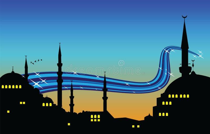 Noite de Ramadan ilustração royalty free