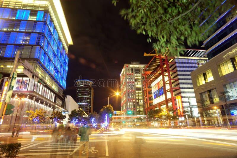 Noite de Taipei, Taiwan fotos de stock