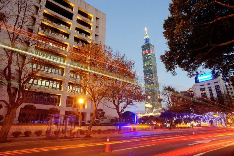 Noite de Taipei, Taiwan imagens de stock