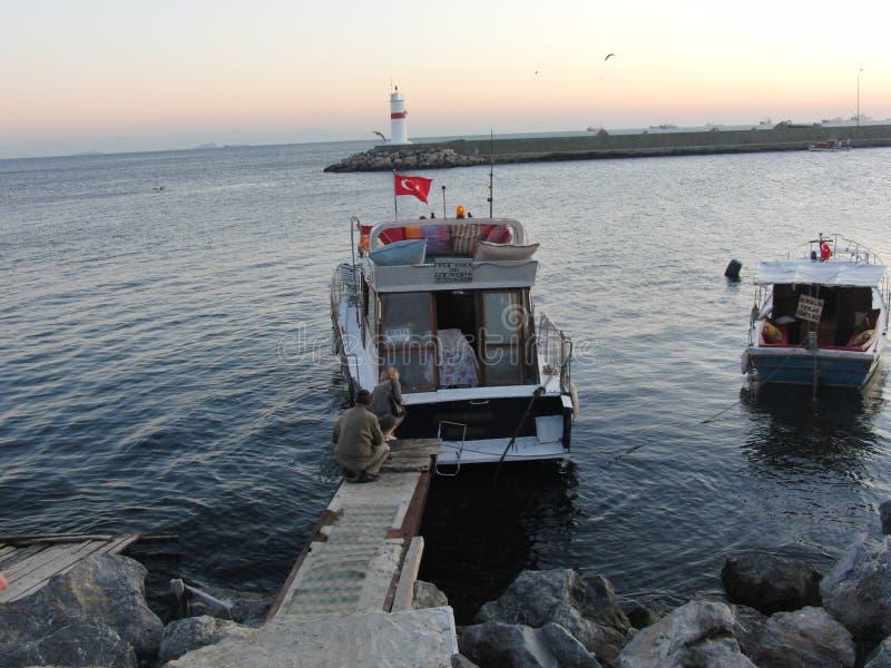 Noite de Turquia Istambul imagens de stock