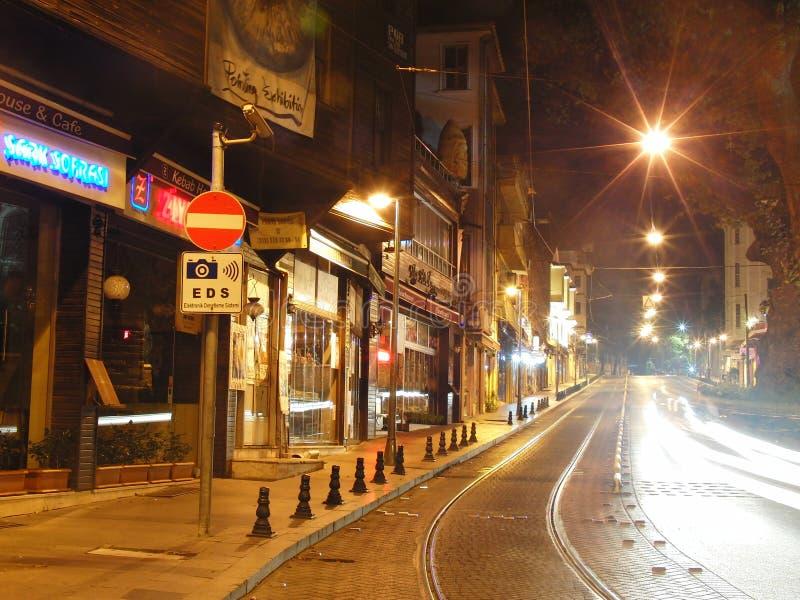 Noite de Turquia Istambul fotografia de stock