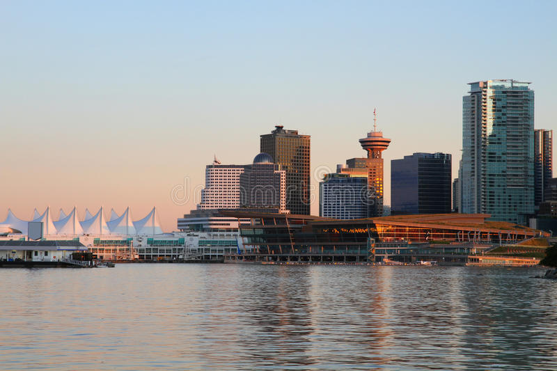 Noite de Vancôver, Canadá imagens de stock royalty free