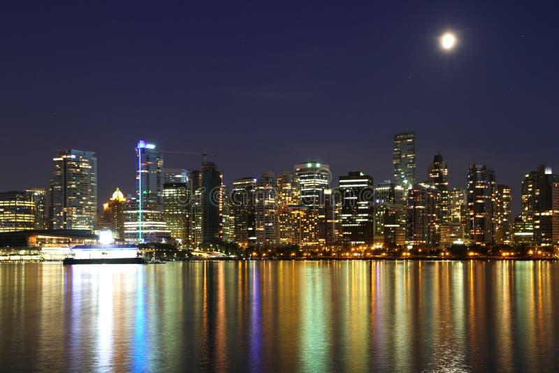 Noite de Vancôver, Canadá imagens de stock