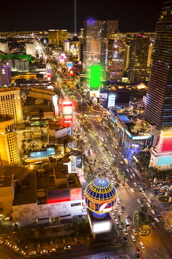 Noite de Vegas fotografia de stock