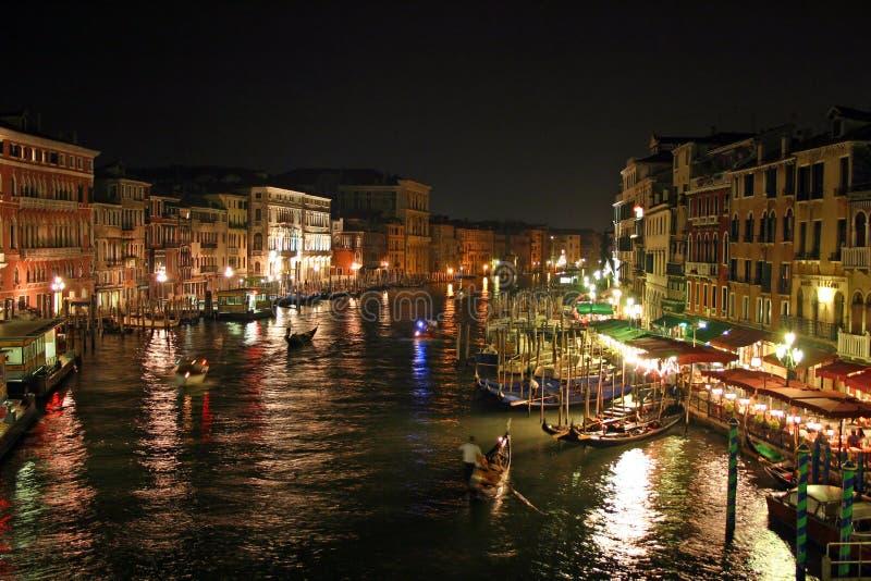 Noite de Veneza foto de stock royalty free