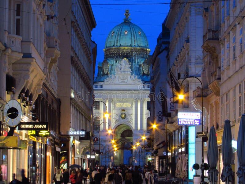 Noite de Wien fotografia de stock royalty free