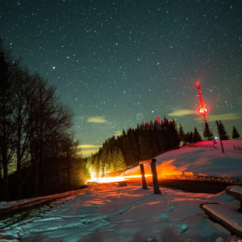 Noite do céu foto de stock