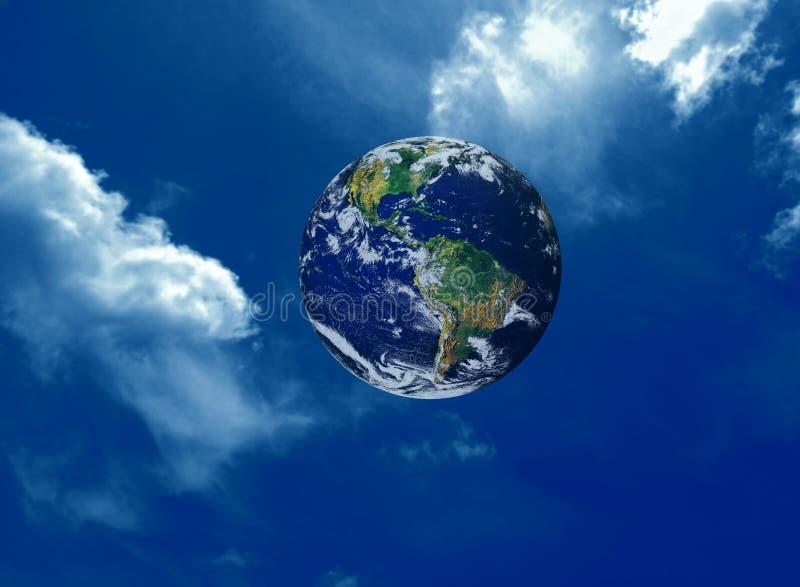 Noite do céu da terra do panorama imagem de stock
