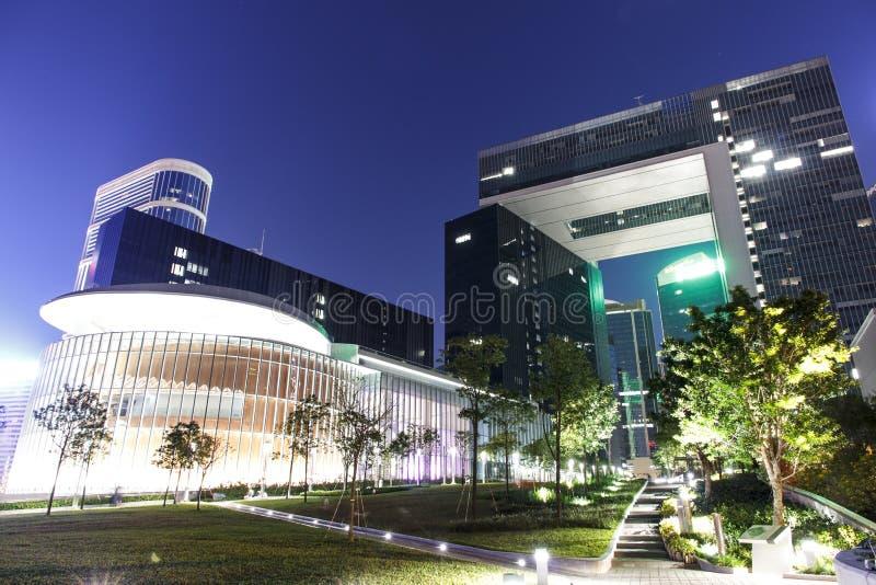 Noite do complexo do Conselho Legislativo imagem de stock