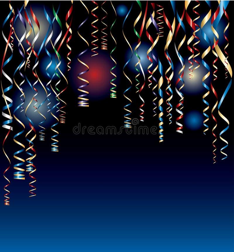 Noite do Confetti ilustração royalty free