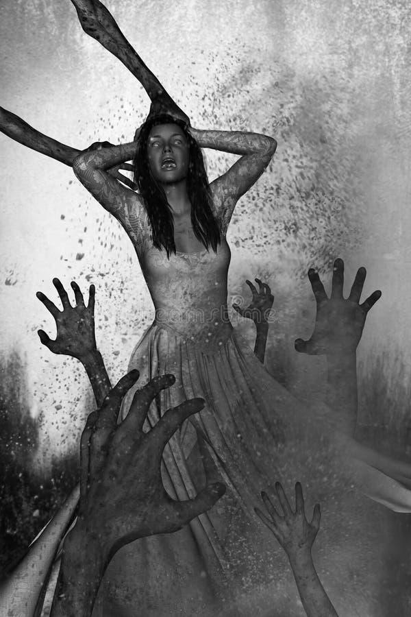 Noite do horror ilustração do vetor