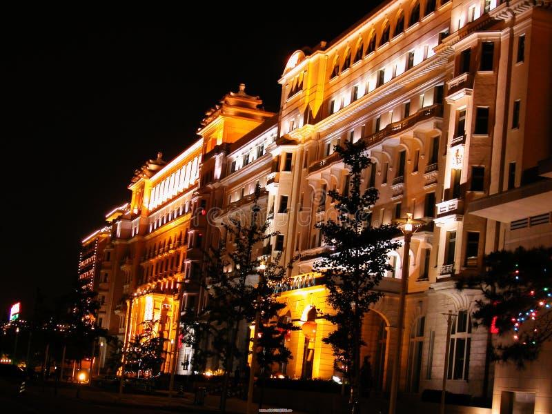 Noite do hotel foto de stock