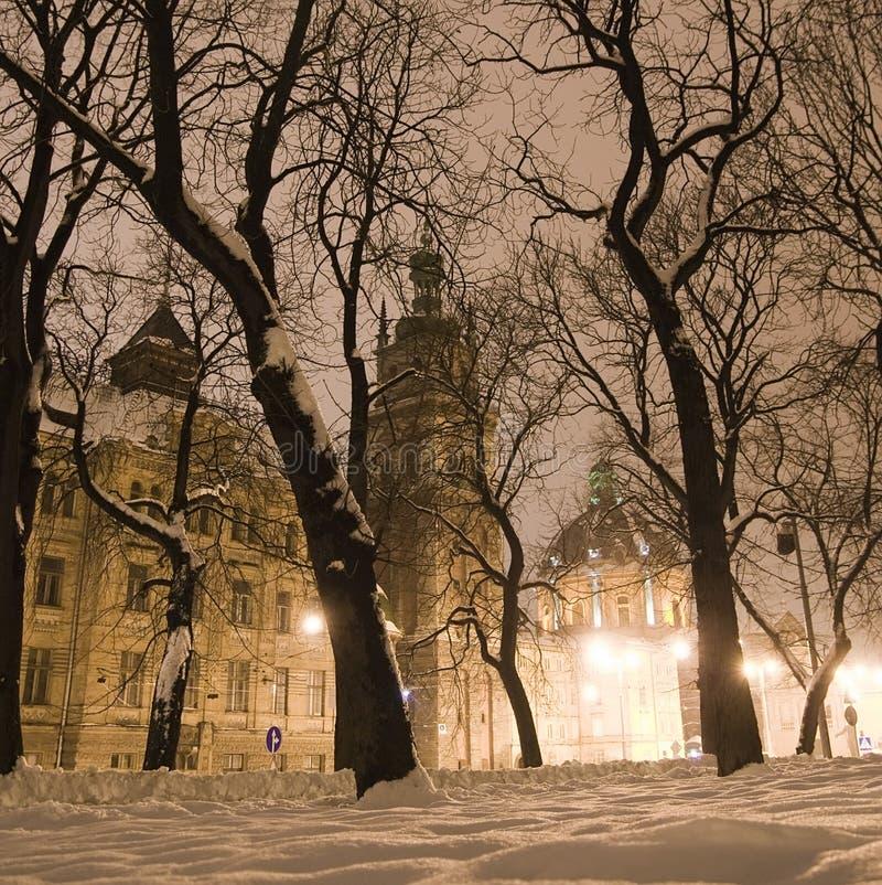 Download Noite do inverno foto de stock. Imagem de azul, belfry - 16859486