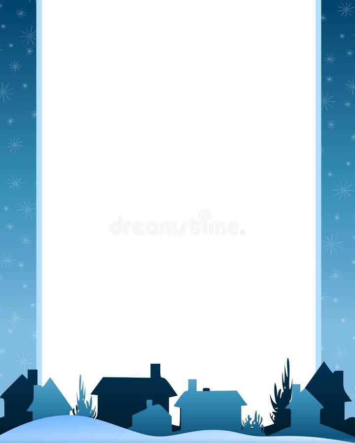 A noite do inverno abriga a cena ilustração stock