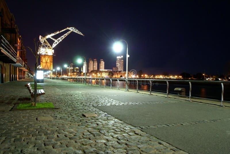 Noite do madero de Puerto cénico foto de stock royalty free