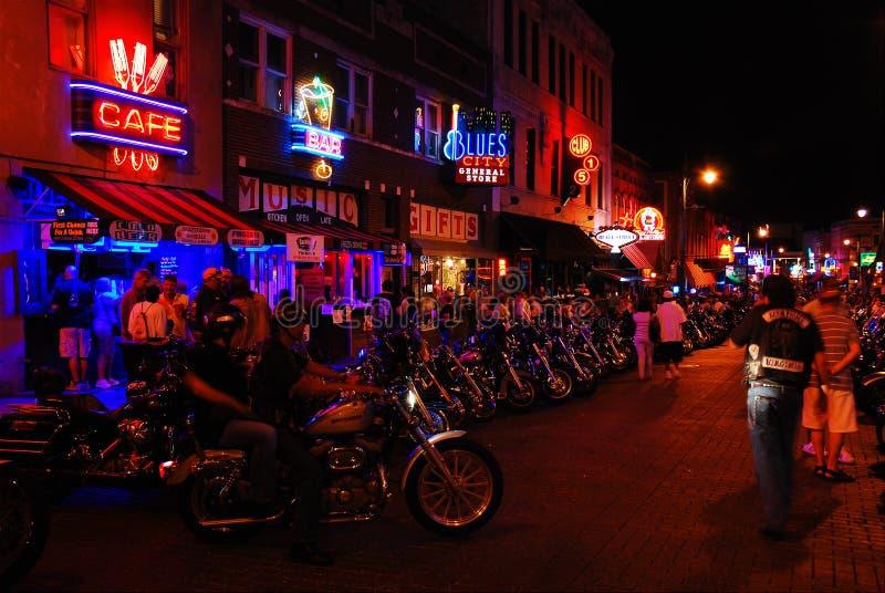 Noite do motociclista imagens de stock