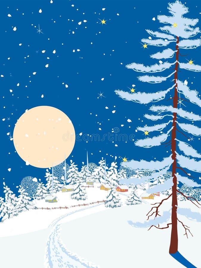 Noite do Natal ilustração royalty free